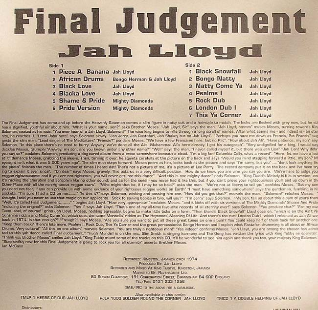 Michael Lloyd - Judgement Time (King David Style)