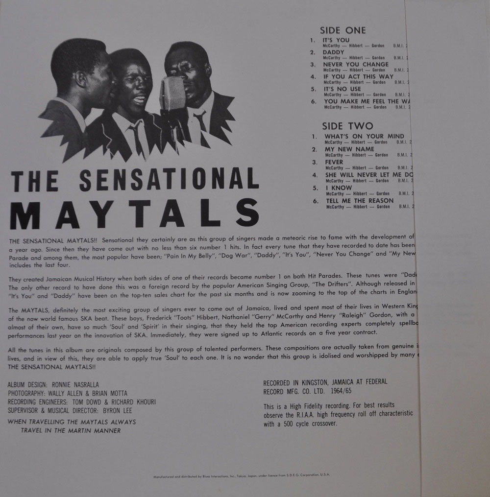 Toots And The Maytals Greatest Hits Vinyl Sweet And Dandy