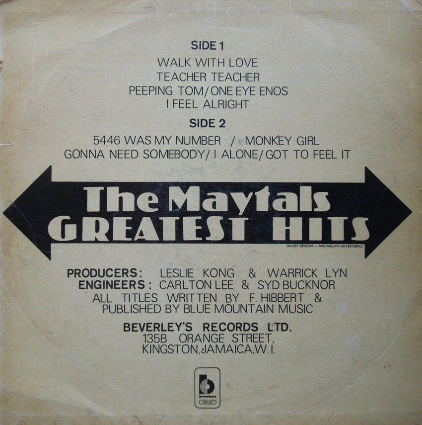 The Maytals - Monkey Girl