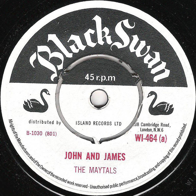 The Maytals Theo Beckford John And James Sailing On